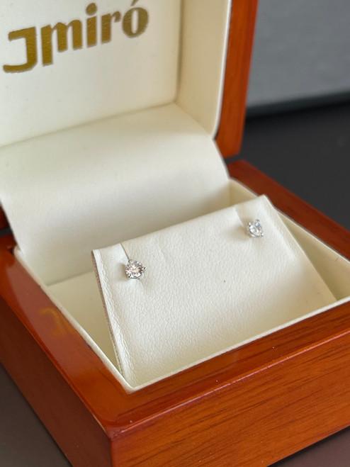 Natural Diamond Petite Stud Earrings 1/5 Carat