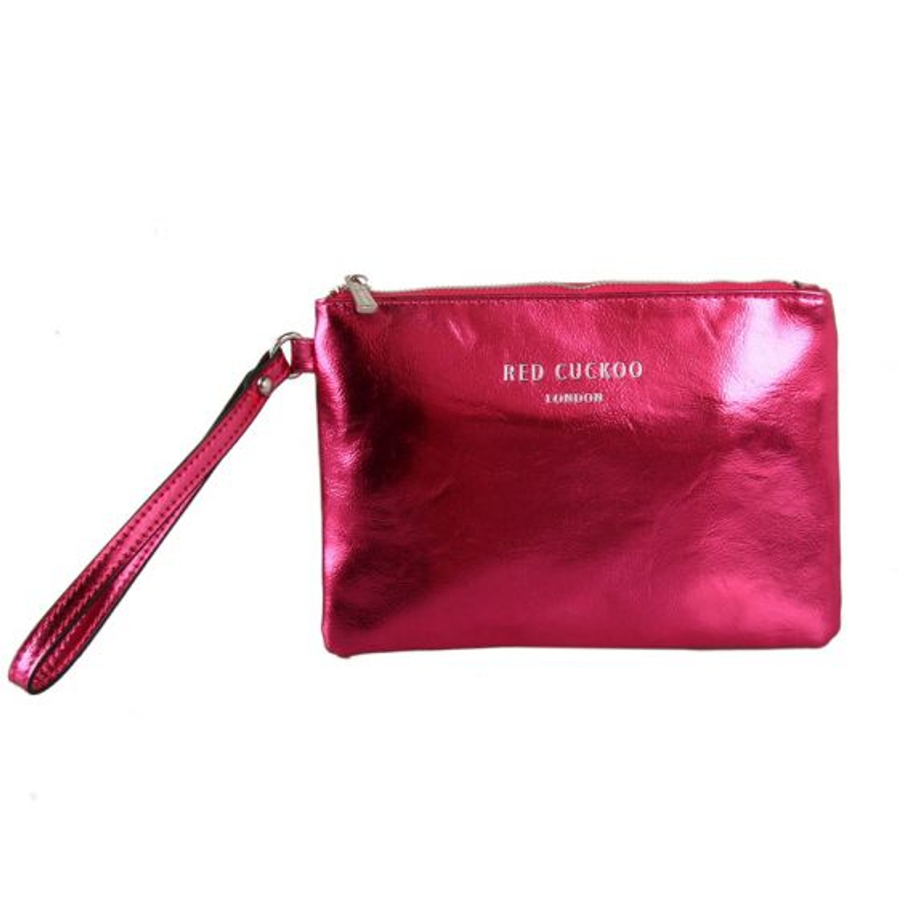 c1b3cd2a023 Red Cuckoo Metallic Fuchsia Clutch - Itsy Bitsy Boutique