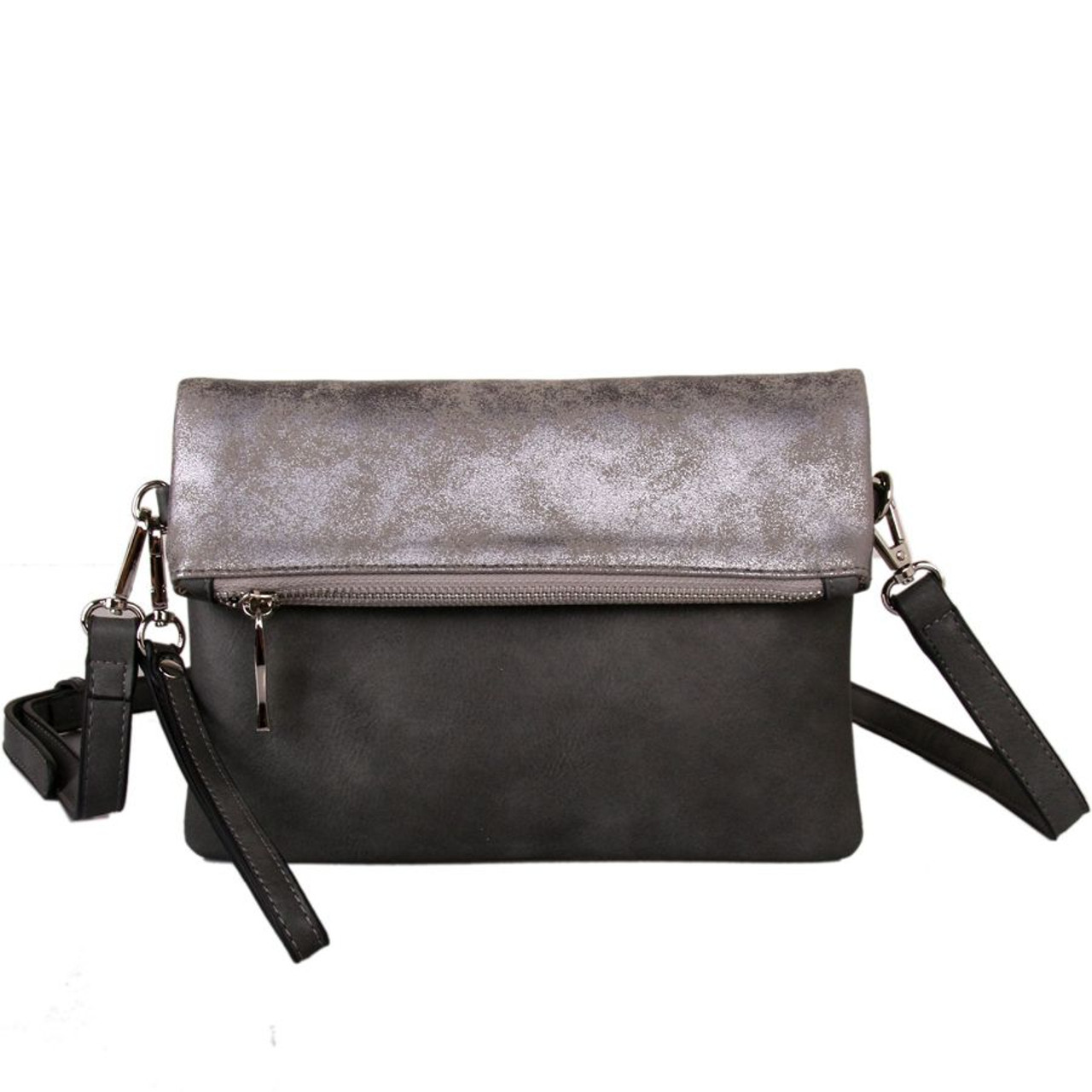 ecf52c1cc867 Red Cuckoo Grey Two Tone Cross Body Bag - Itsy Bitsy Boutique
