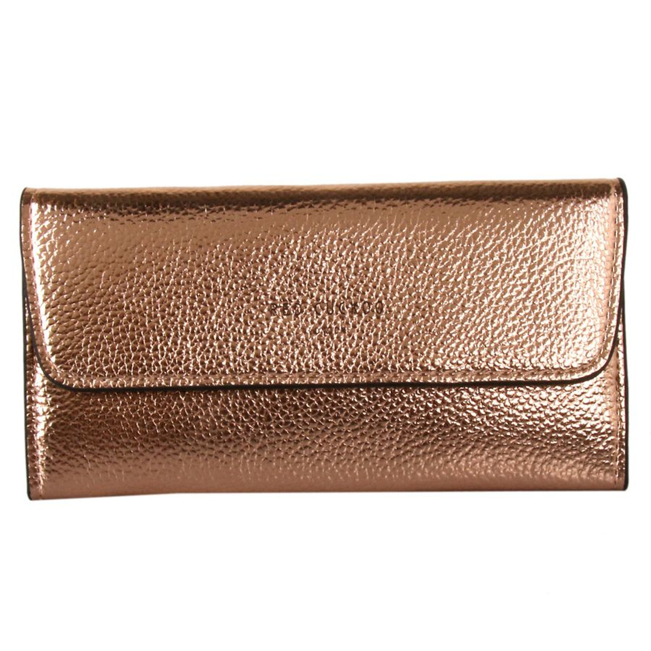 686962049b2 Red Cuckoo Rose Gold Metallic Fold Over Purse - Itsy Bitsy Boutique