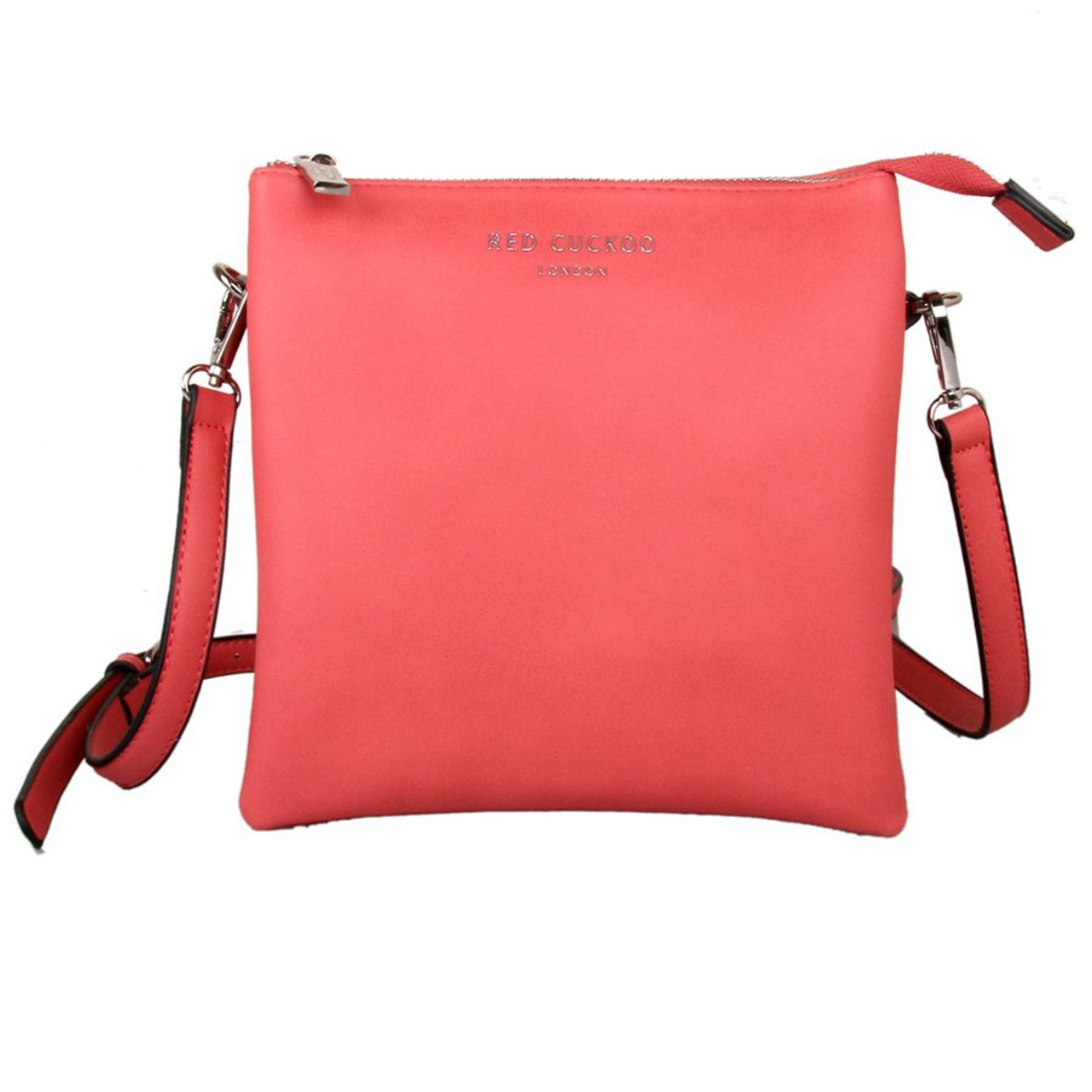 e11a1bc7b38d5 Red Cuckoo Coral Tall Cross Body Bag - Itsy Bitsy Boutique