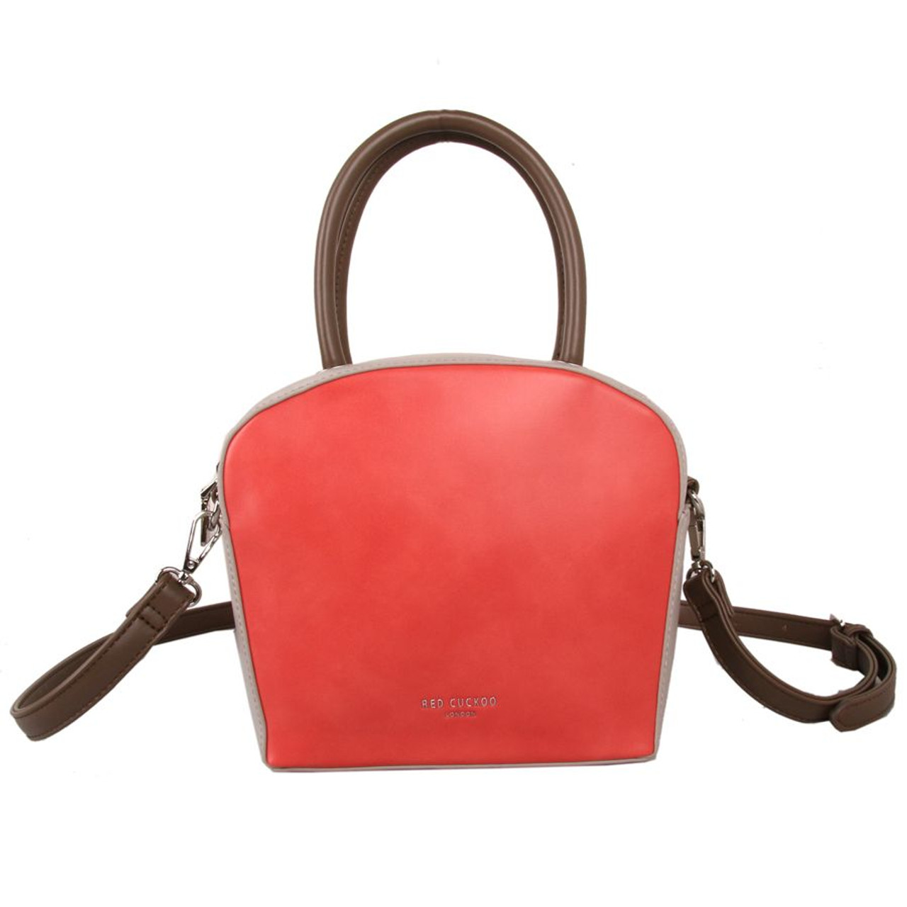 1e6991226a5bf Red Cuckoo Small Coral Two Tone Grab Bag - Itsy Bitsy Boutique