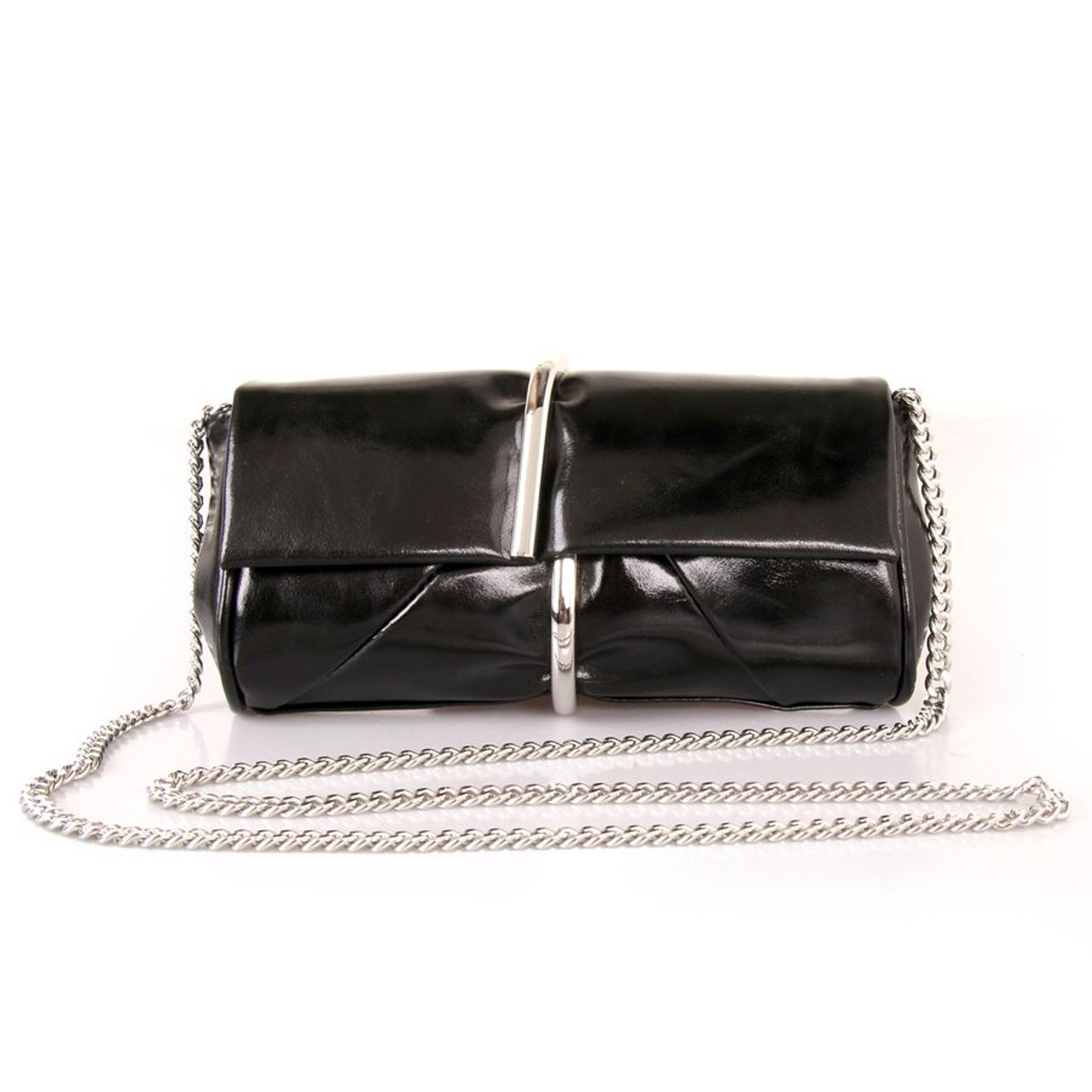 3bb246631ad Red Cuckoo Black Chain Clutch Bag - Itsy Bitsy Boutique