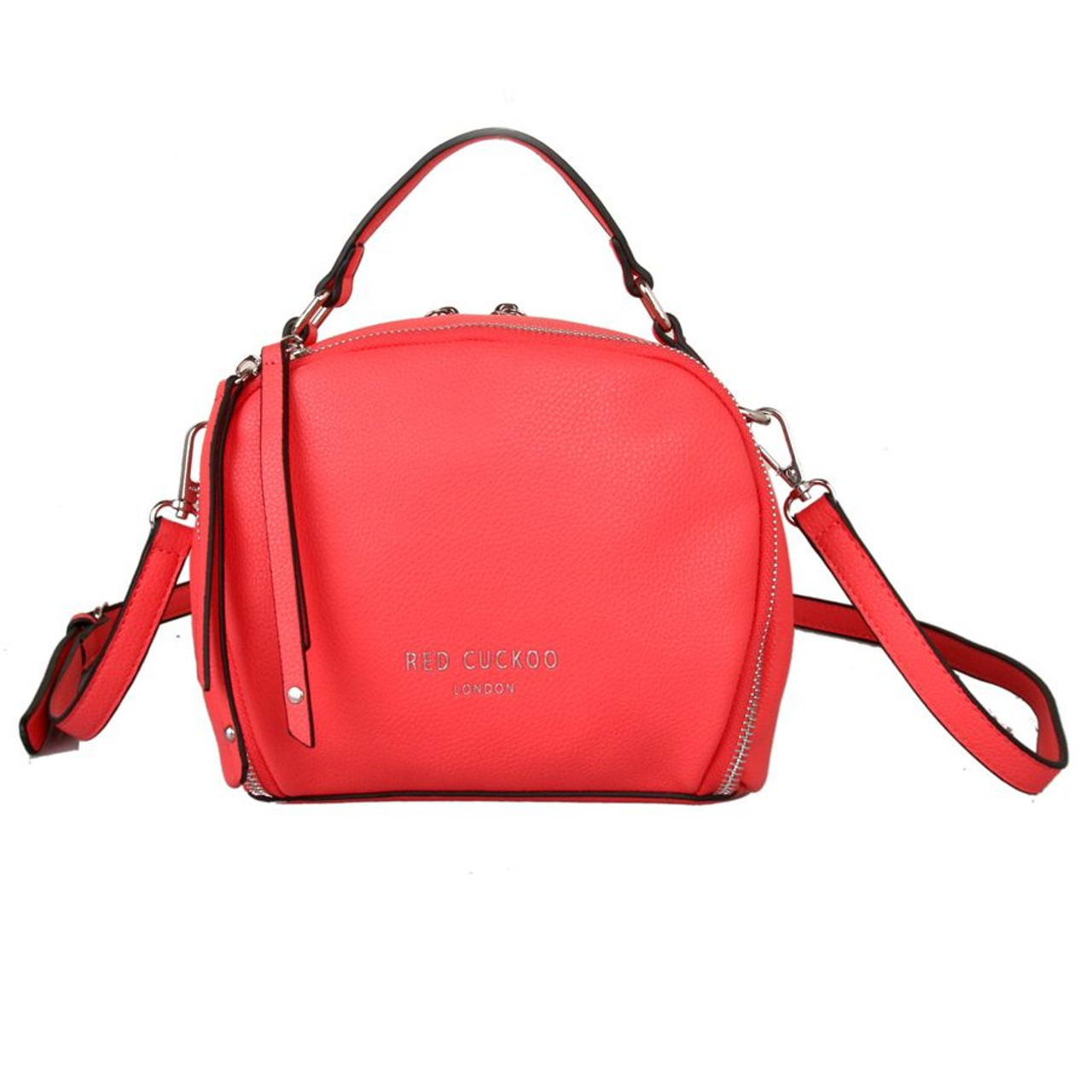 d10f5512319c5 Red Cuckoo Small Coral Round Grab Bag - Itsy Bitsy Boutique
