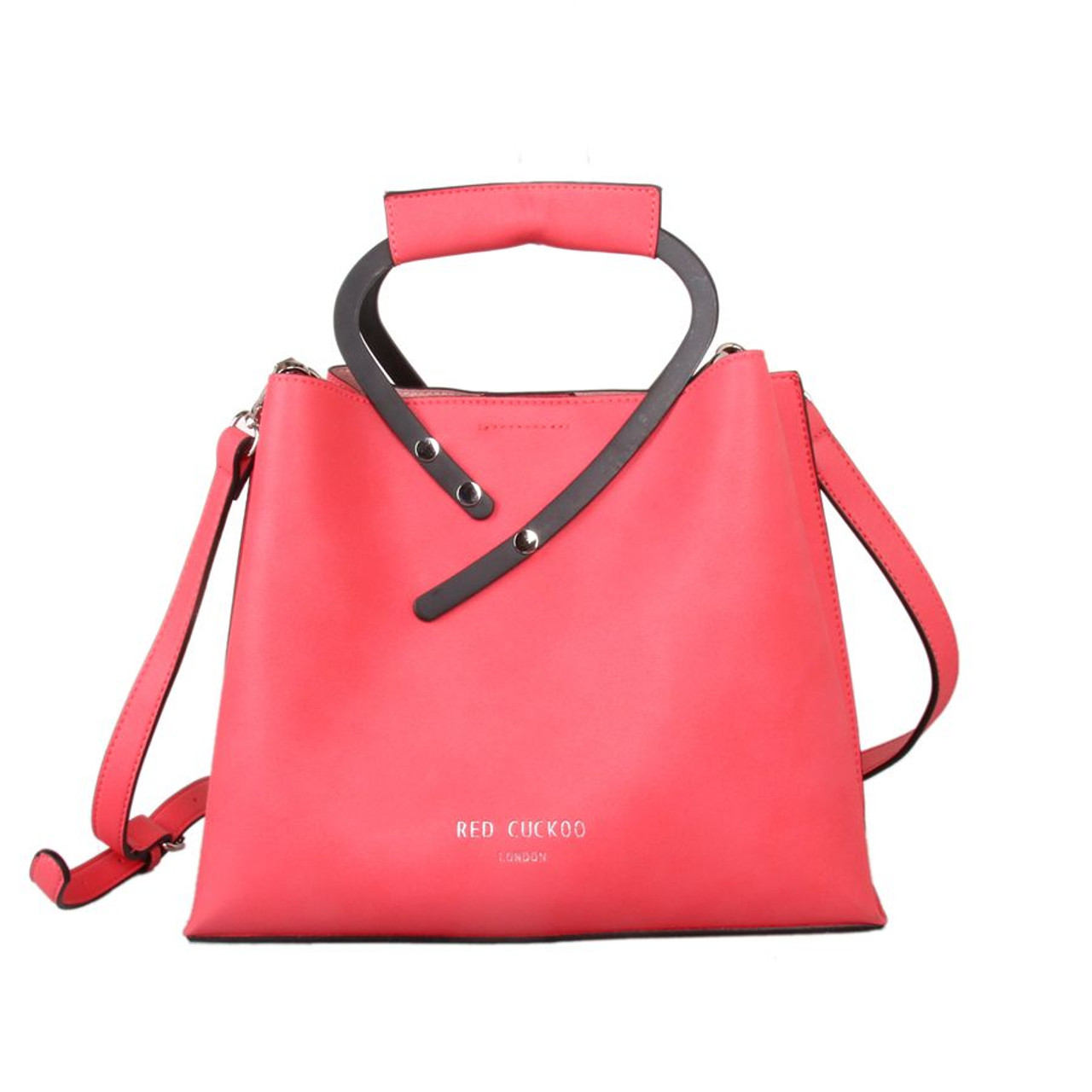 acd4966d4f447 Red Cuckoo Coral Handle Tote Bag - Itsy Bitsy Boutique