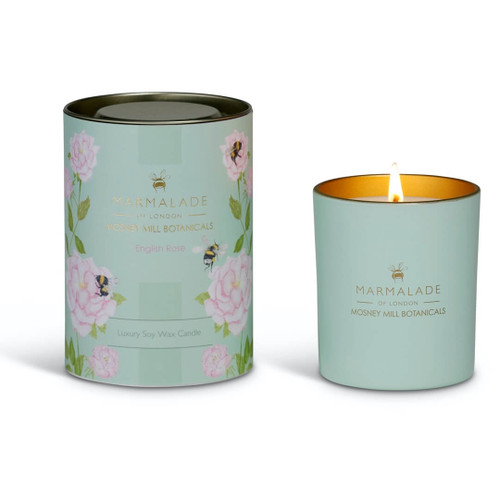 Marmalade of London & Mosney Mill English Rose Glass Candle