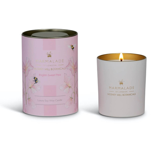 Marmalade of London & Mosney Mill English Sweet Pea Glass Candle