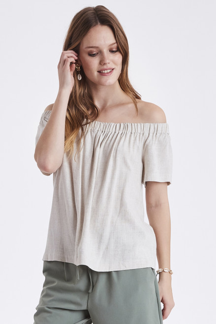 Johanna Linen Top by b.young