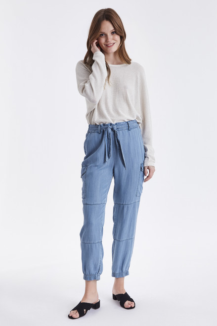 Lana Cargo Denim Trousers by b.young