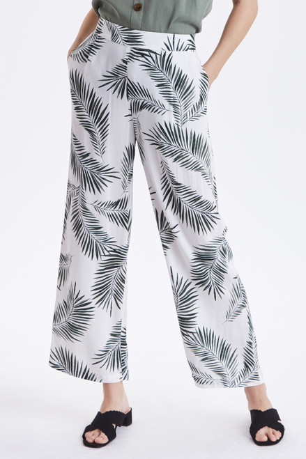 Fia Palm Print Trousers by b.young