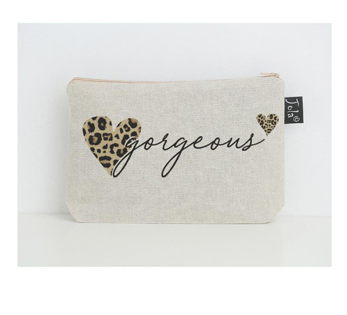 Gorgeous Leopard Heart Small Makeup Bag by Jola