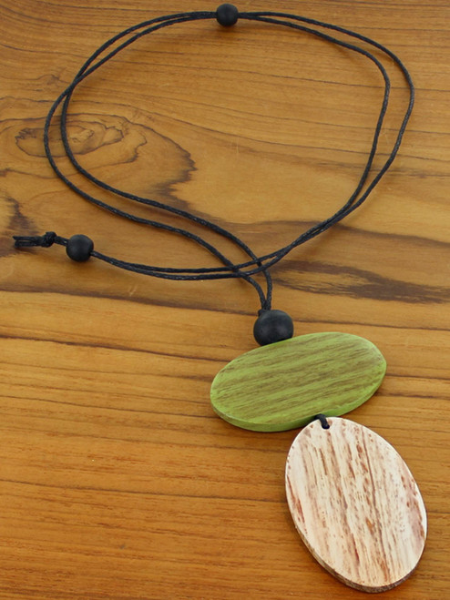 Double Oval Pendant Necklace