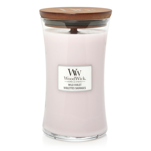 WoodWick Wild Violet Large Hourglass Candle