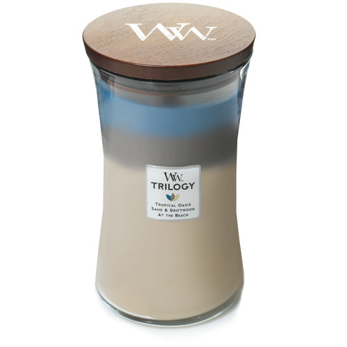 WoodWick Nautical Escape Large Hourglass Trilogy Candle