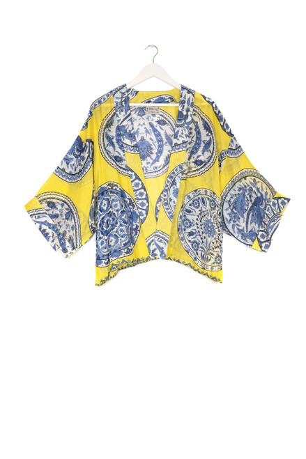 One Hundred Stars China Plates Yellow Kimono