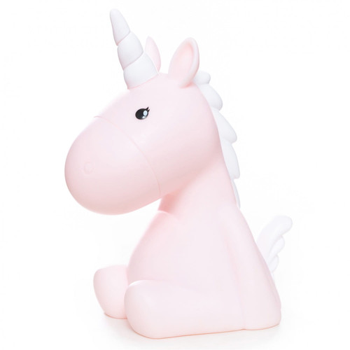 Medium Colour Changing LED Night Light | Pastel Candy Pink Unicorn with White Mane & Horn