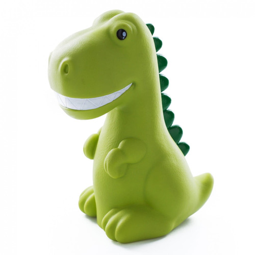 Medium Colour Changing LED Night Light | Green Dinosaur with White Teeth