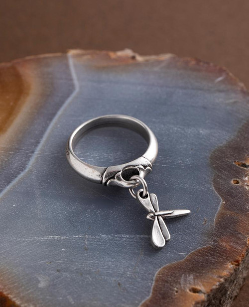 Dragonfly Charm Ring by Danon