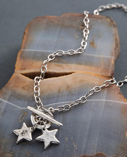 Star Shine Double Charm Necklace by Danon