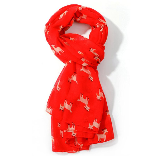 Red Rudolph Scarf