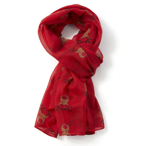 Red Red Nose Reindeer Scarf
