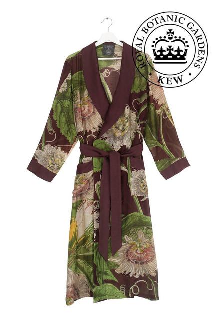 One Hundred Stars & Kew Passion Flower Burgundy Gown