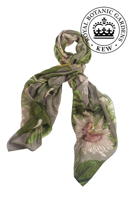One Hundred Stars & Kew Passion Flower Stone Scarf