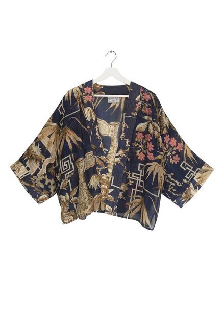 One Hundred Stars Bamboo Indigo Kimono