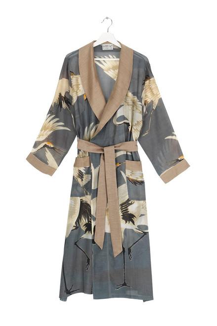 One Hundred Stars Stork Slate Grey Gown