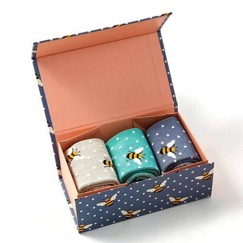 Miss Sparrow Bumble Bee Socks Gift Box