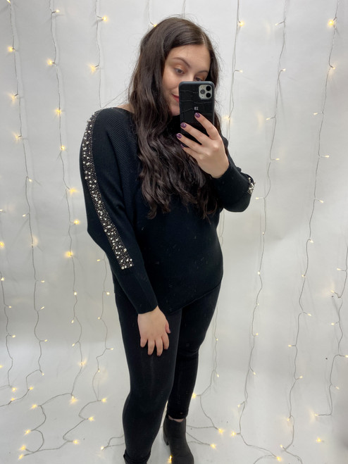 Lilly Pearl Embellished Jumper