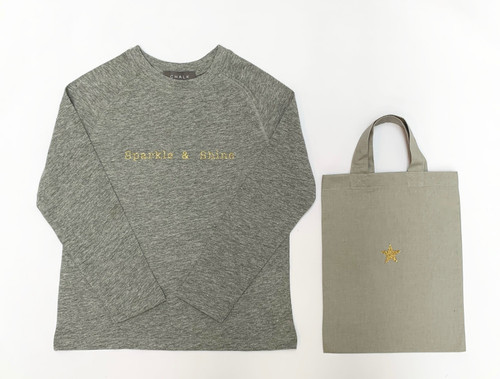 Christmas Toddler T-Shirt by Chalk | Gold Sparkle & Shine | 5-7 Years