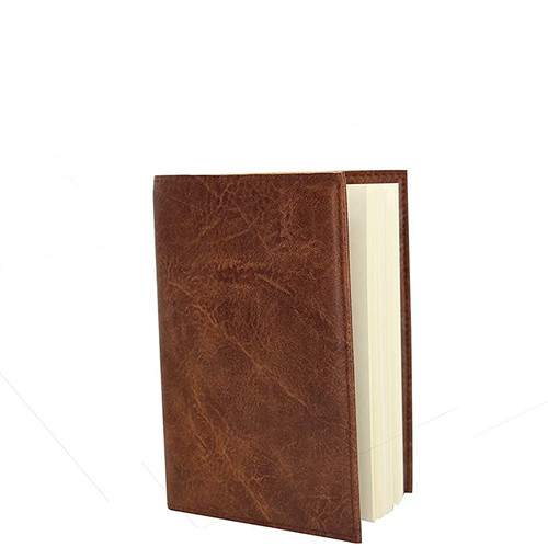 Dark Brown Leather Effect A6 Notebook
