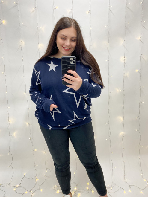 The Kaylee Star Tunic | Navy