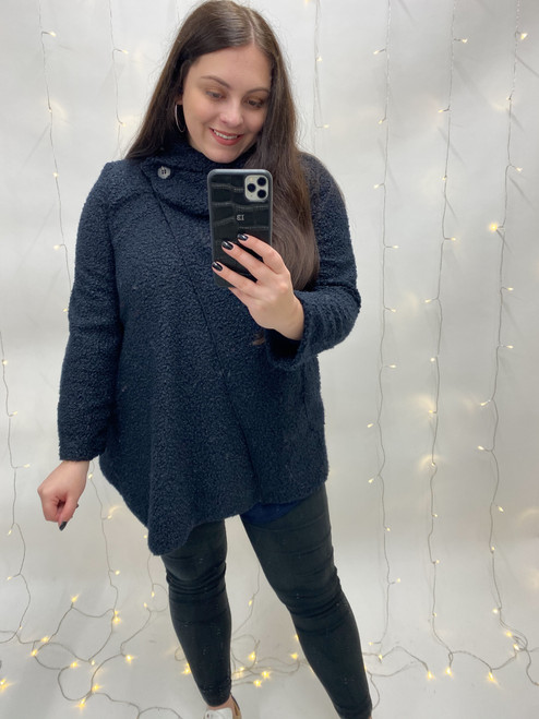 The Merry Bubble Cardigan | Navy