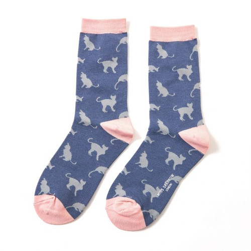 Miss Sparrow Cats in Navy