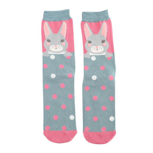 Miss sparrow Bunny Socks In Pink