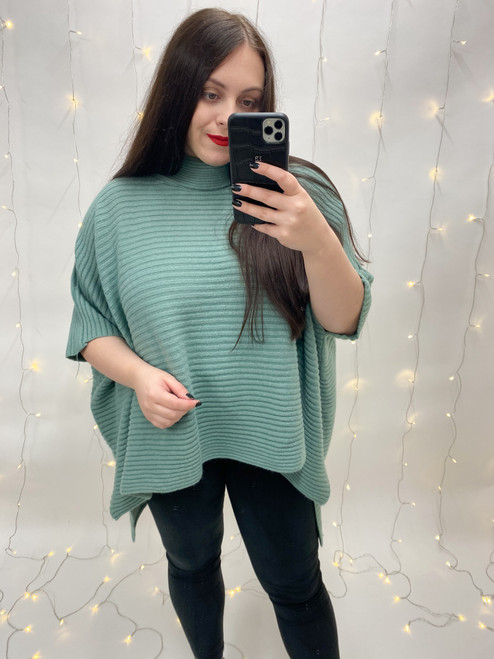 The Alice Ribbed Jumper | Mint