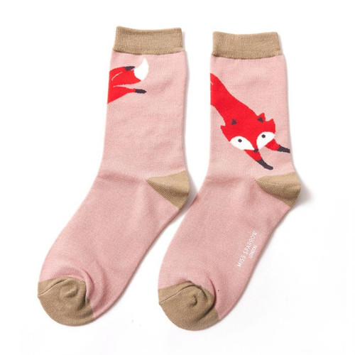Miss Sparrow Leaping Fox In Dusky Pink