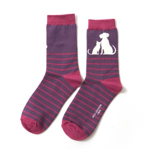 Miss Sparrow Cat and dog Stripe In Purple