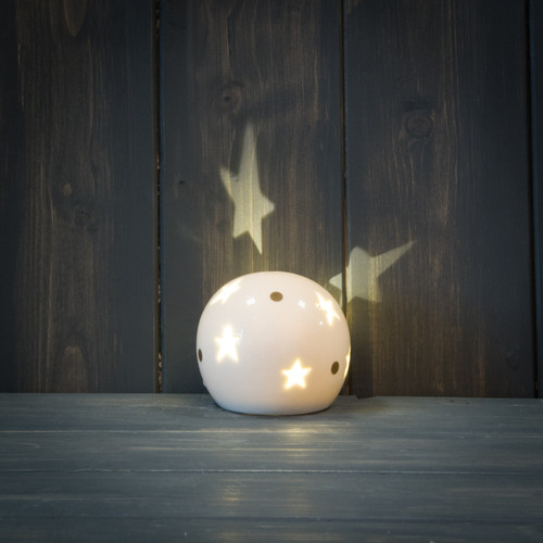 LED Ceramic Snow Globe