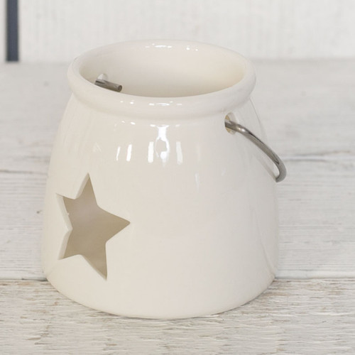 White Porcelain Tea Light Holder