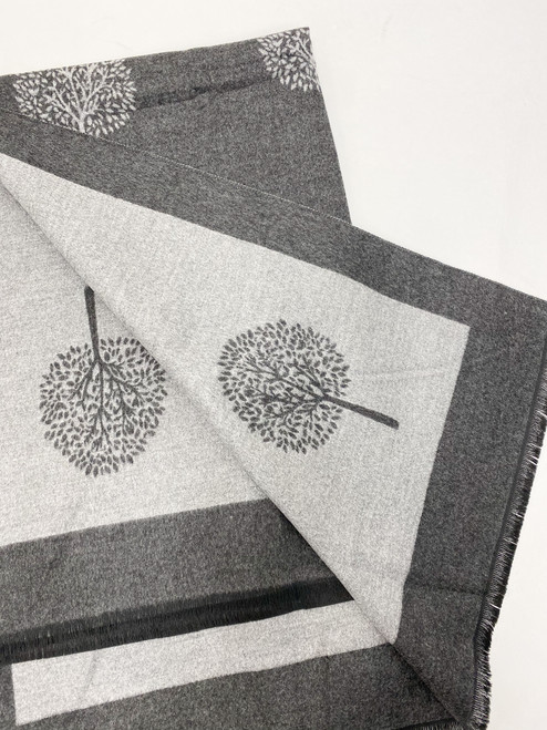 Two Tone Mulberry Scarf in Grey