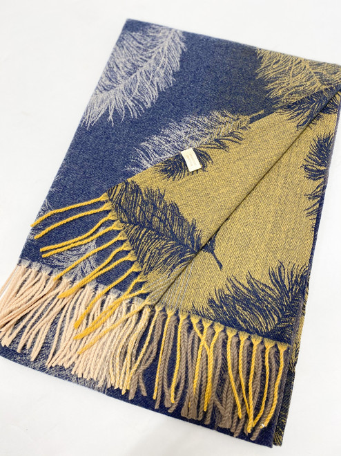 Winter Trees Scarf in Navy