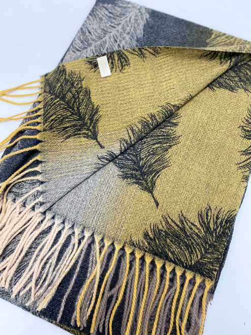 Winter Trees Scarf in Grey