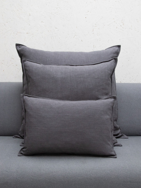 Oblong Charcoal Cushion by Chalk