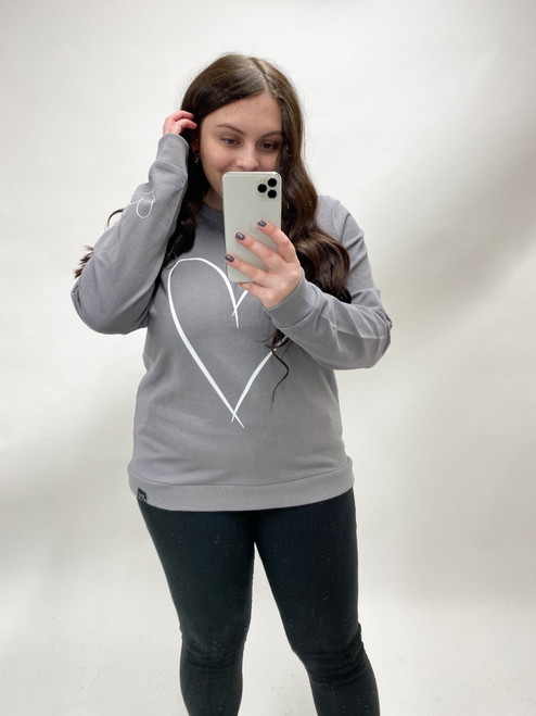 Queen of Hearts Sweatshirt by Jola | Grey