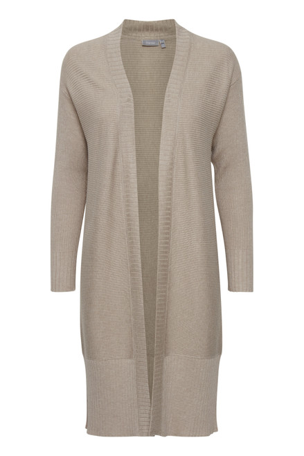 The Frpesmock Cardigan by Fransa   Beige