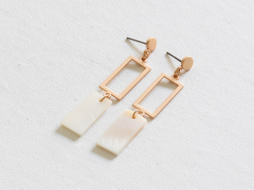 Perdita Gold Delicate Shell Geo Earrings