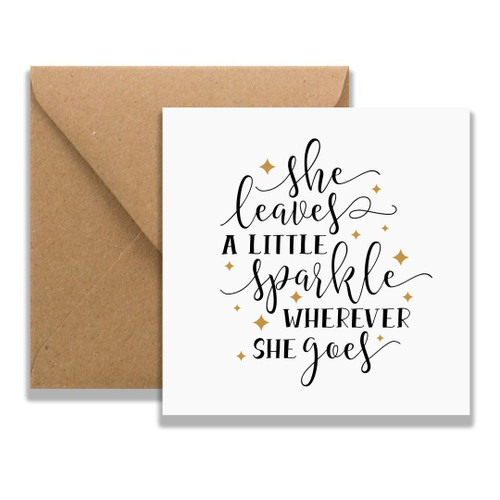 She Sparkles Greeting Card